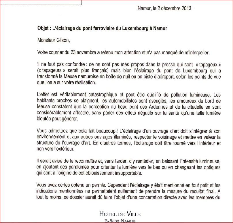 """""""Le pont bleu"""" réponse de l'ASCEN, Députés et bourgemestre 110"""