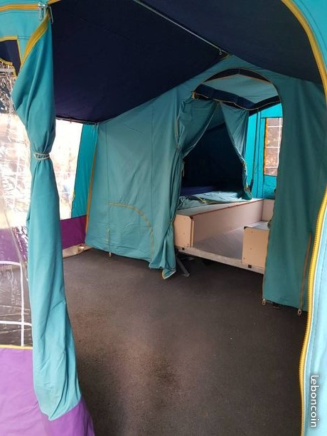 presentation caravane pliante en toile kingway Doublu10