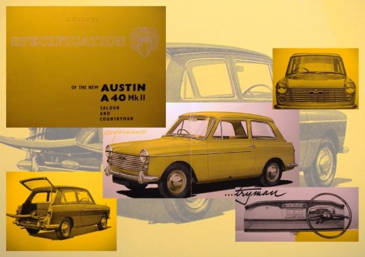 Car adverts old and new Austin10