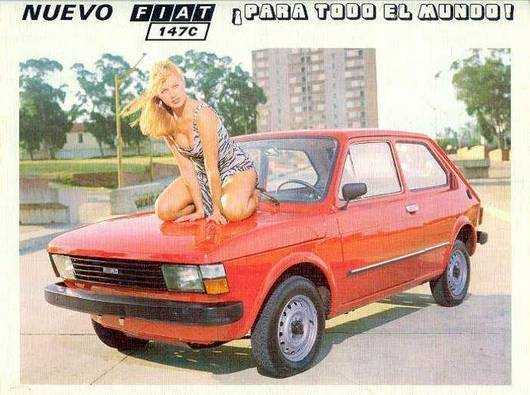 Car adverts old and new Fiat-110
