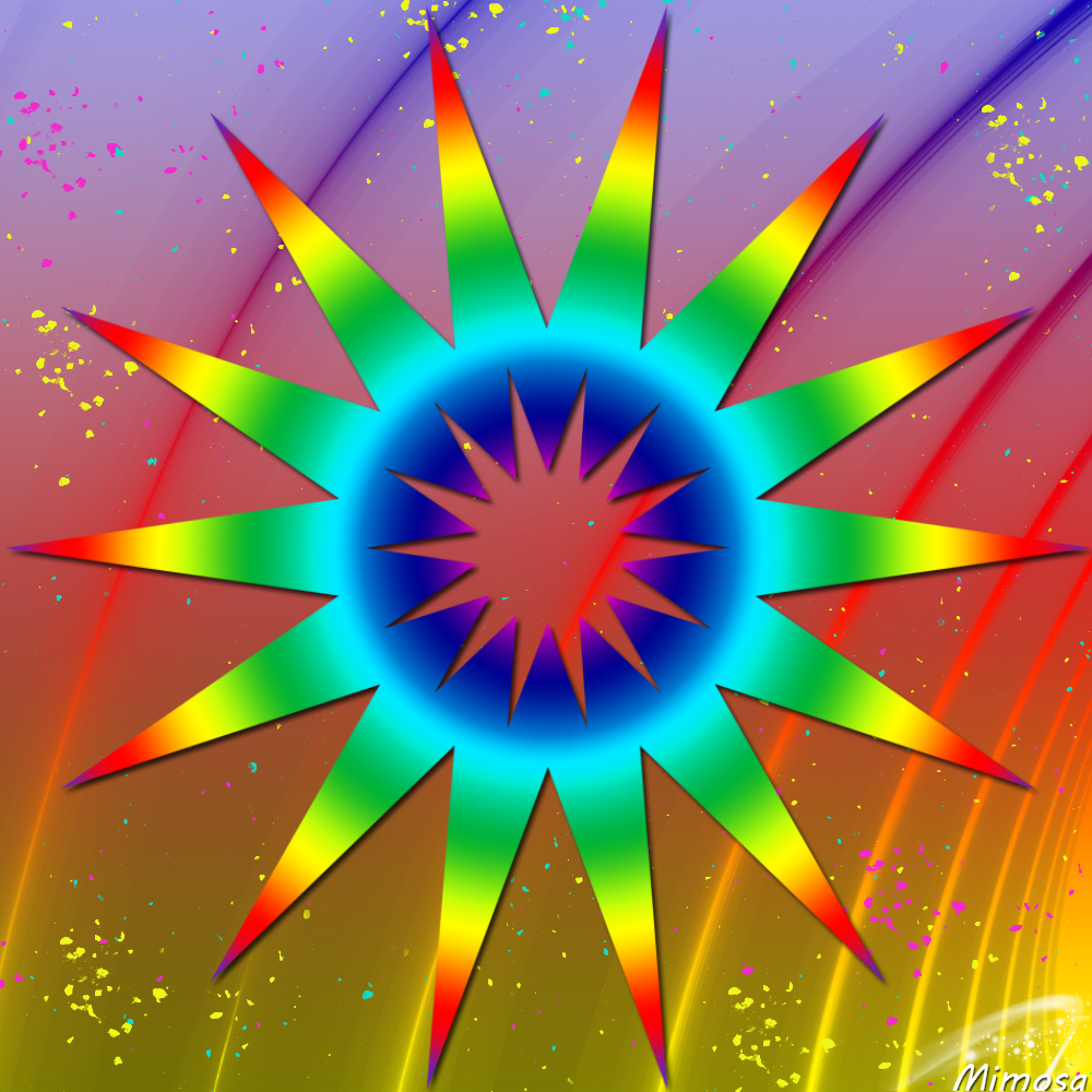 Puzzle #0438 / Abstract sun #2 by Mimosa Abstra10
