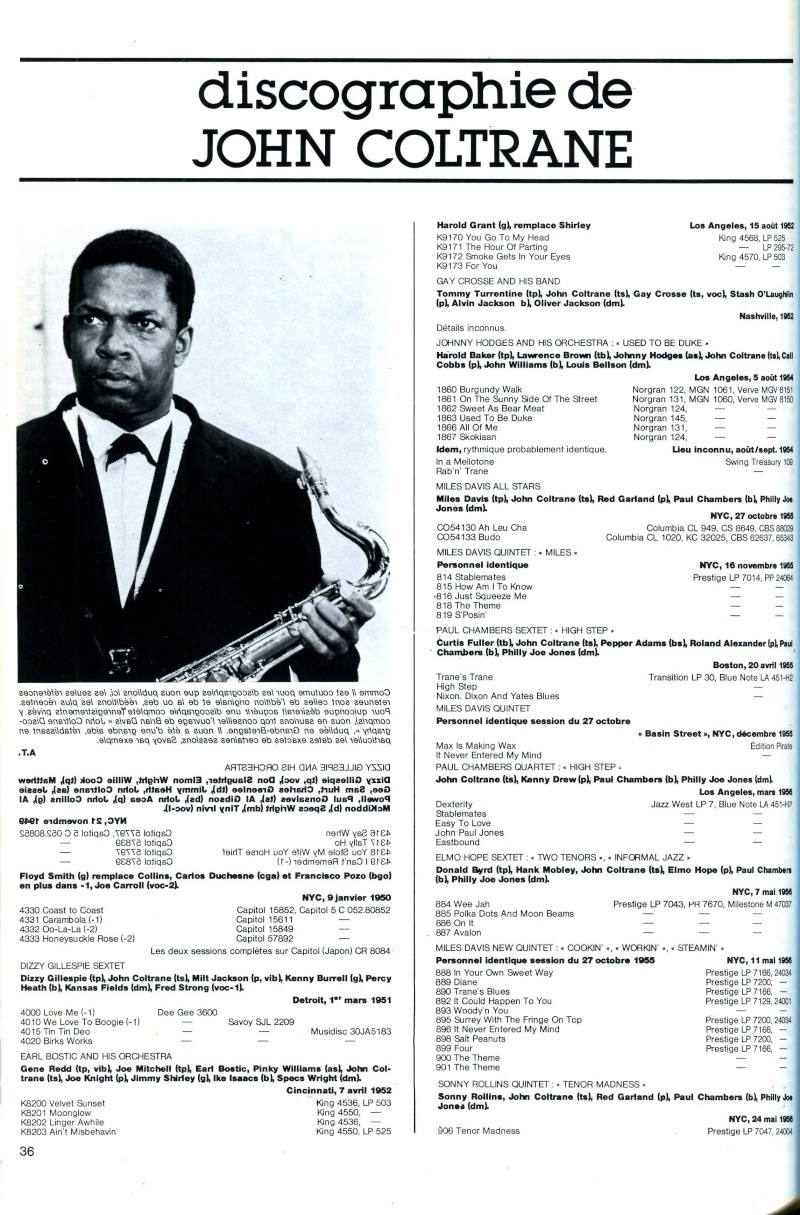 La discographie de John Coltrane par sessions  R67-5410