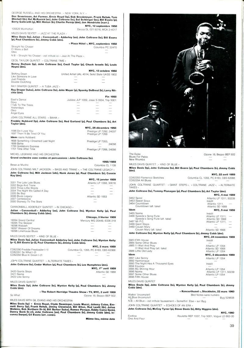 La discographie de John Coltrane par sessions  R67-5413