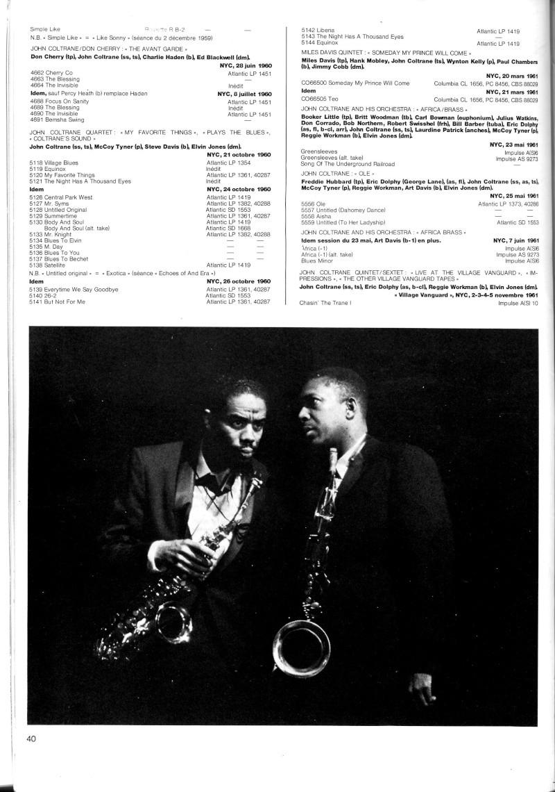 La discographie de John Coltrane par sessions  R67-5414