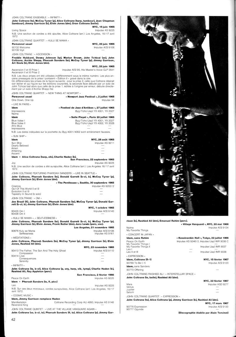La discographie de John Coltrane par sessions  R67-5510