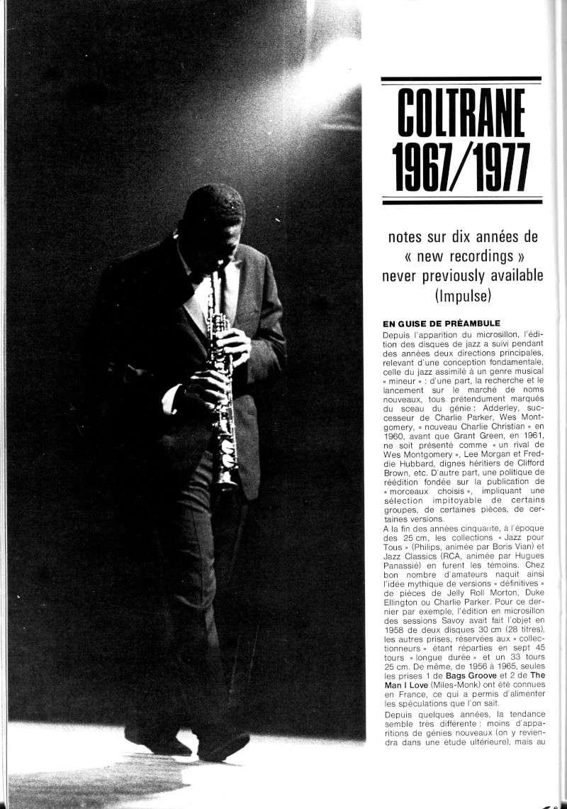La discographie de Coltrane sur Impulse! R67-5512