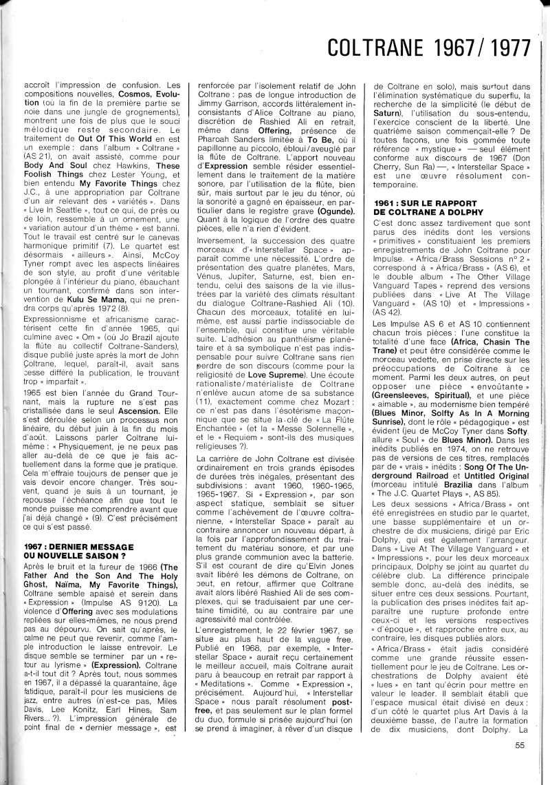La discographie de Coltrane sur Impulse! R67-5515