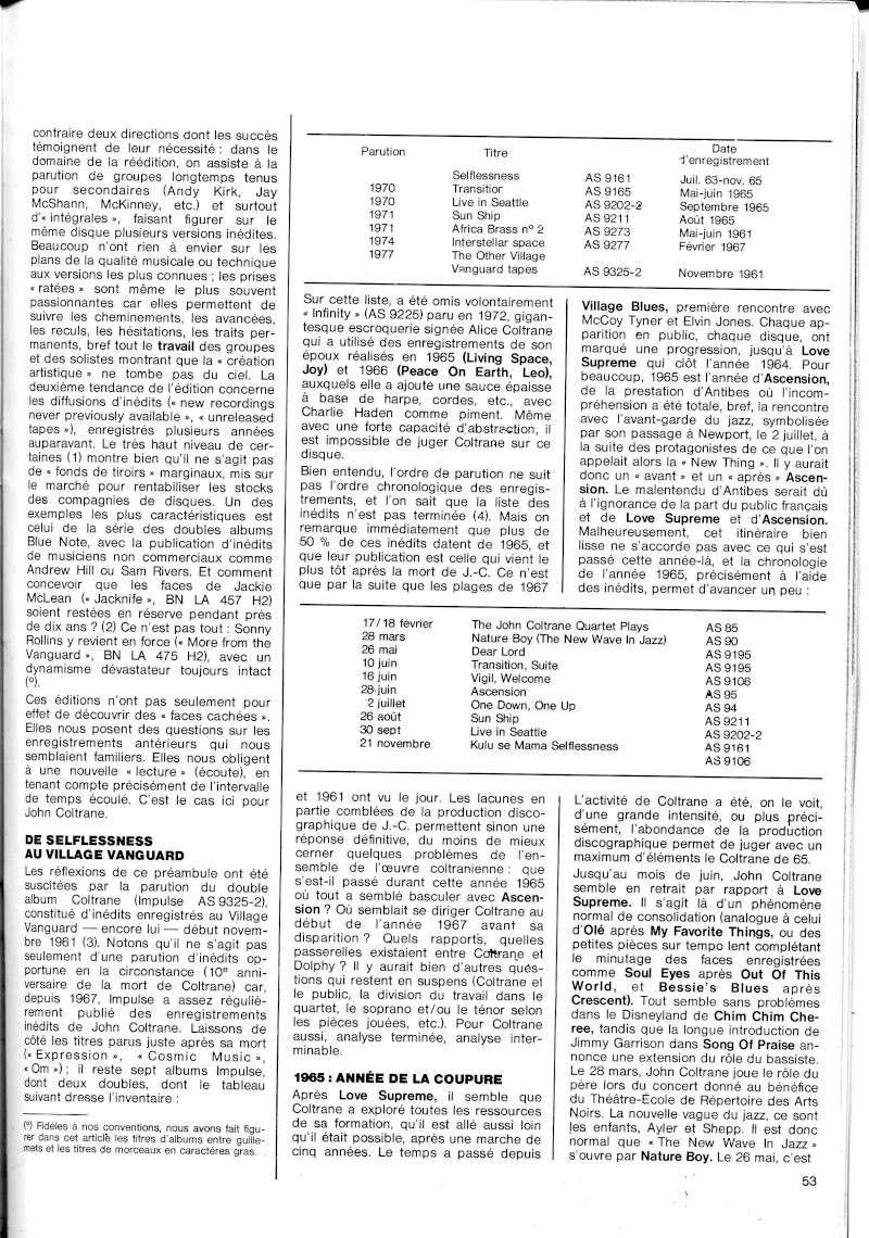 La discographie de Coltrane sur Impulse! R67-5516