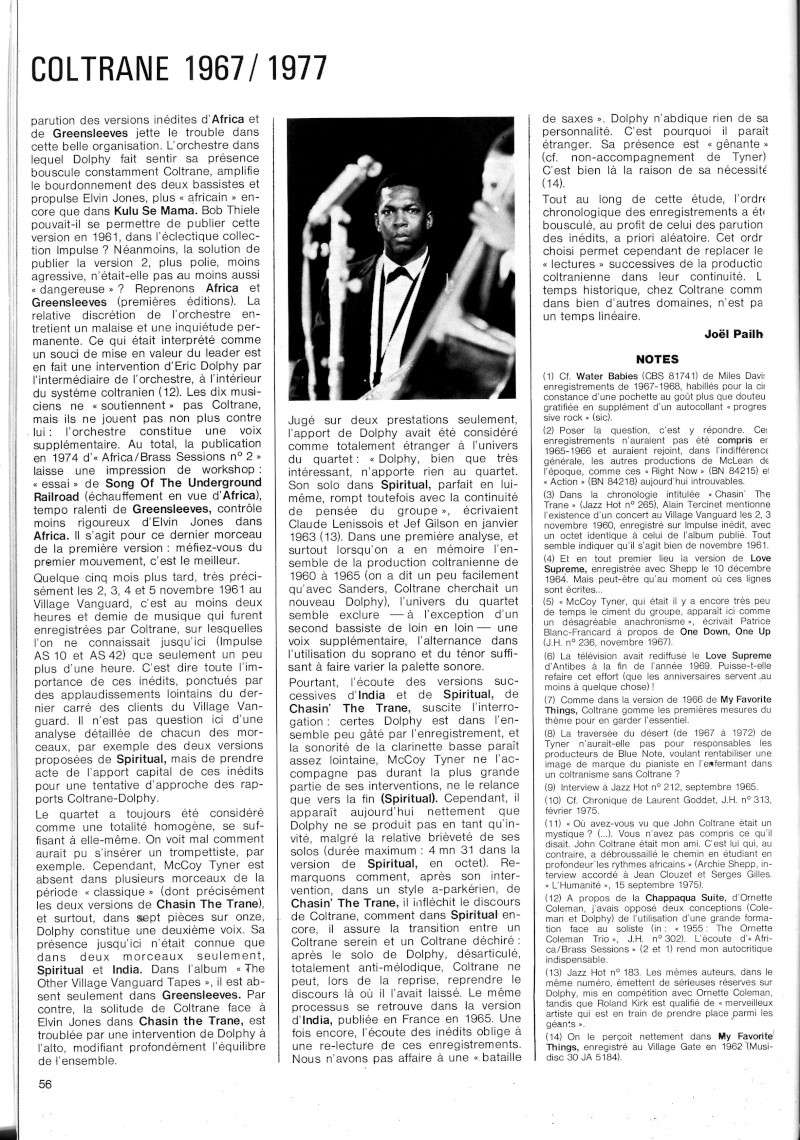 La discographie de Coltrane sur Impulse! R67-5610