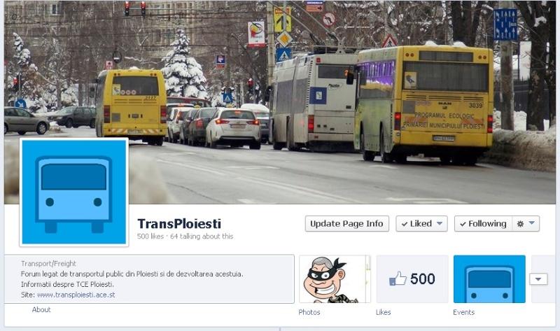 Pagina de facebook a forumului 500k10