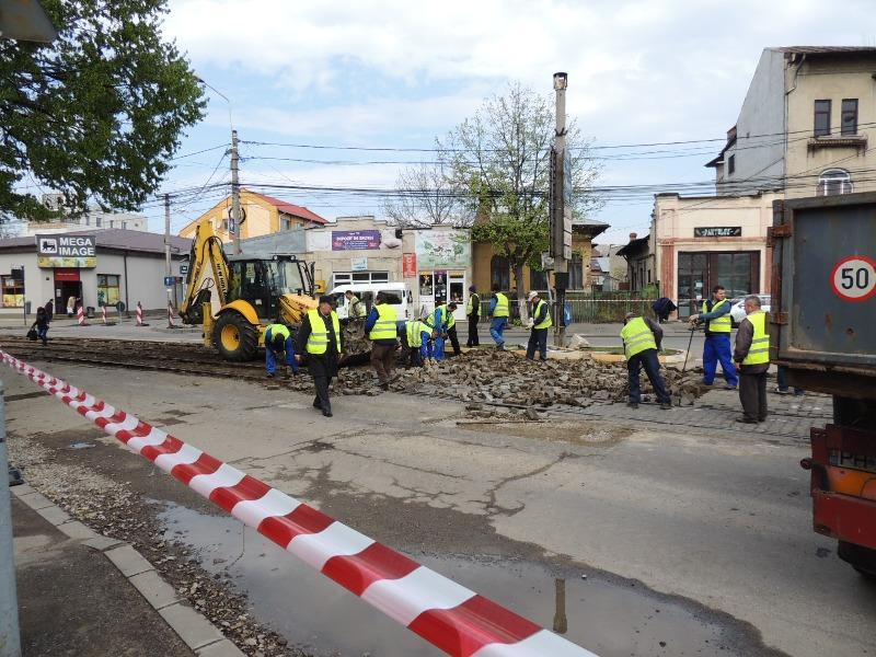 Traseul 101, etapa II: Intersecție Candiano Popescu ( zona BCR ) - Gara de Sud Lucrar10