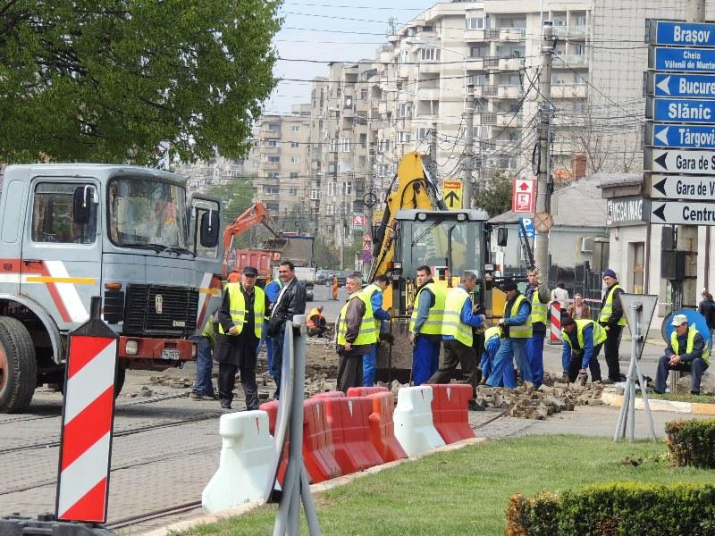 Traseul 101, etapa II: Intersecție Candiano Popescu ( zona BCR ) - Gara de Sud Lucrar12
