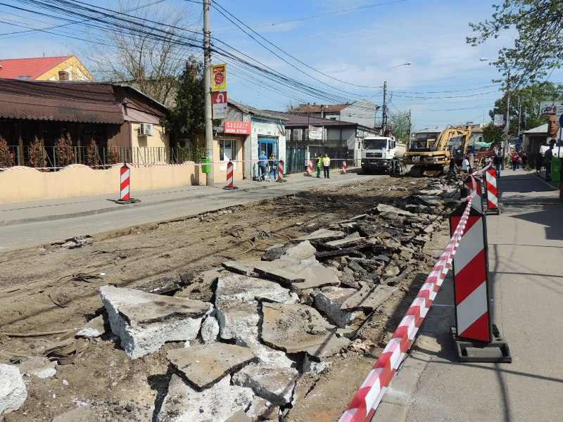 Traseul 101, etapa II: Intersecție Candiano Popescu ( zona BCR ) - Gara de Sud Lucrar15
