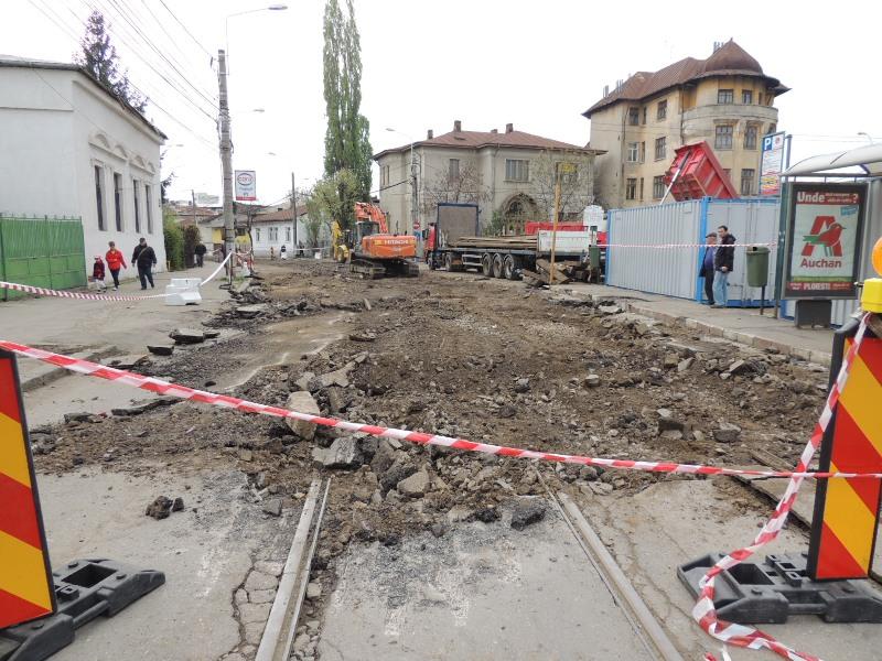 Traseul 101, etapa II: Intersecție Candiano Popescu ( zona BCR ) - Gara de Sud Lucrar18