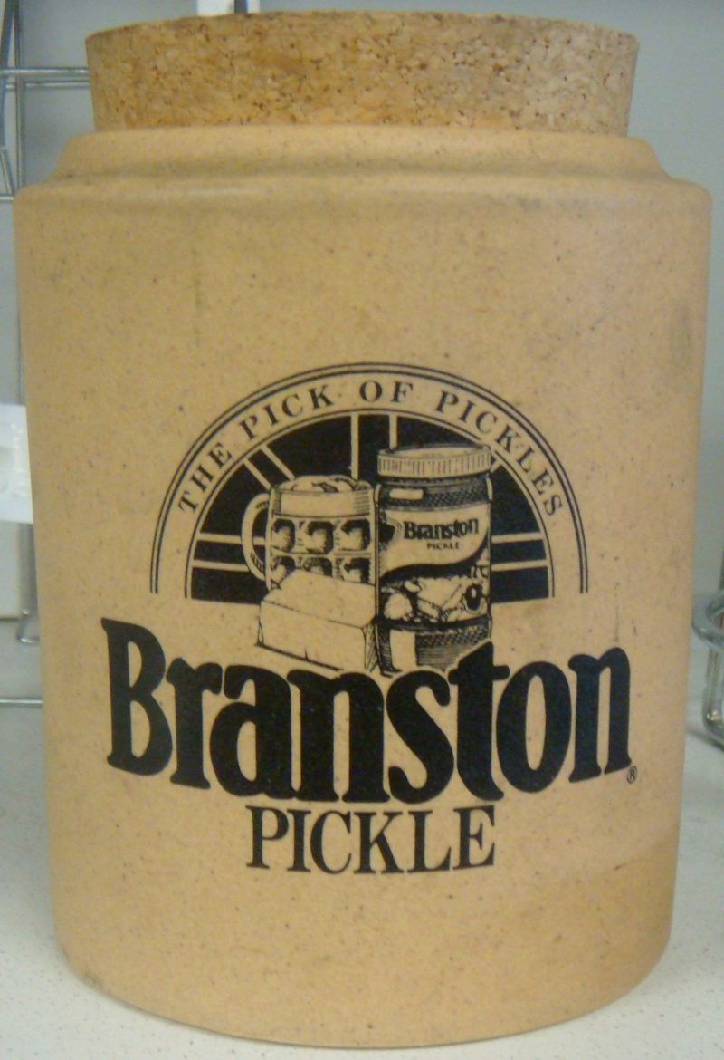 Stewart Pottery Pickle Jar ~ and I thought Branston was English! Dsc00710