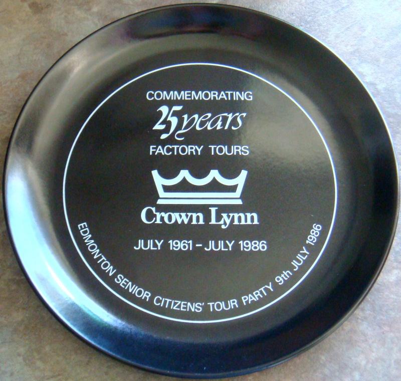 2 Crown Lynn Plates - Government House & Factory tours Dsc08215