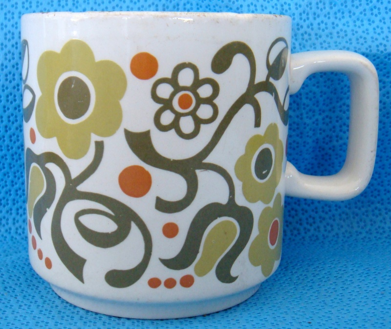 Retro patterned coffee mug Dsc08315