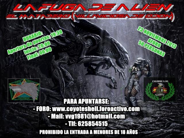 La fuga de Alien, partida abierta (Nocturna) 23.10.13 El Matadero La_fug10