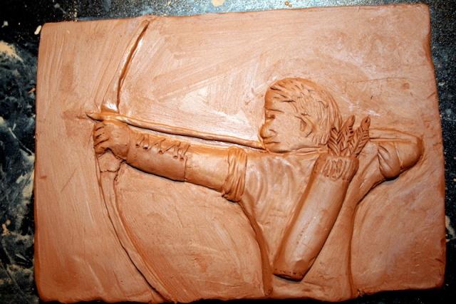 """mes premier pas """"bas relief archer"""" Img_3811"""