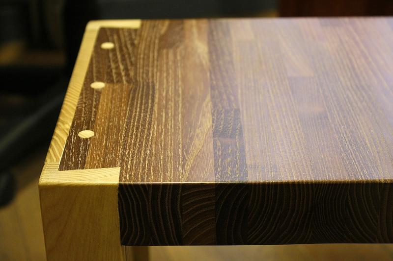 [Fabrication] Table de salon en Robinier étuvé - Page 3 Assemb13