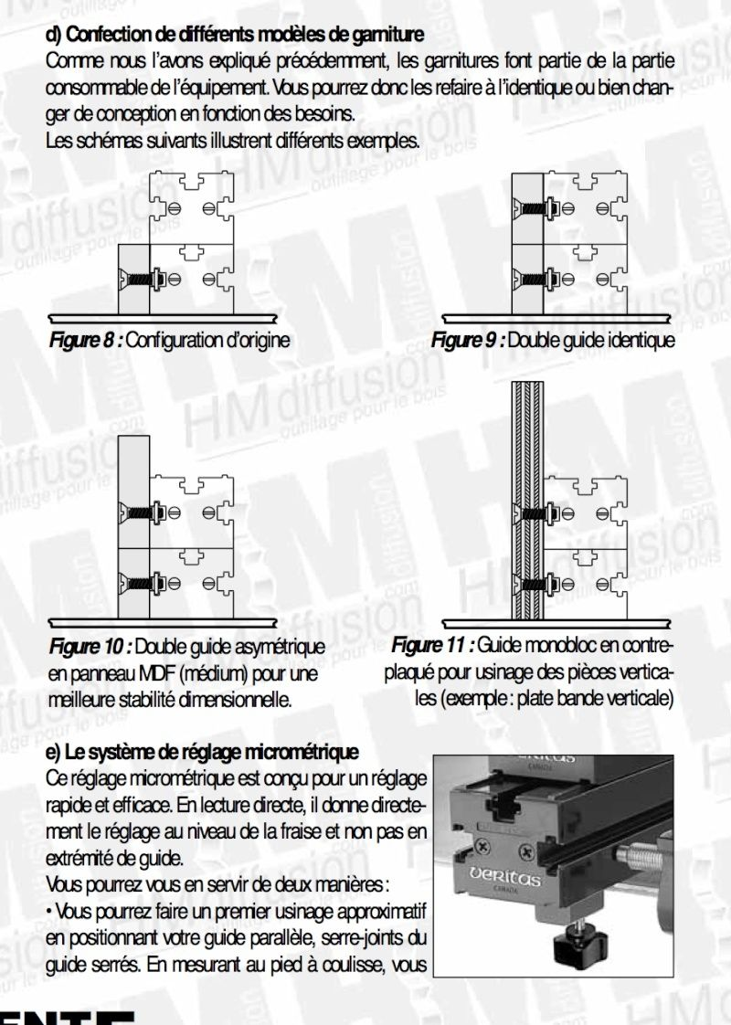 Table de défonçage Veritas Captur11