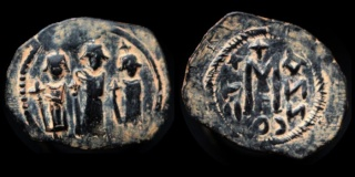 Monnaies pseudo-byzantines et arabo-byzantines 0610-h27