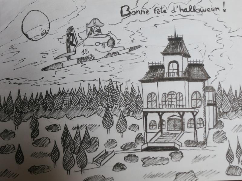 Concours dessins Planes / Halloween Dessin16