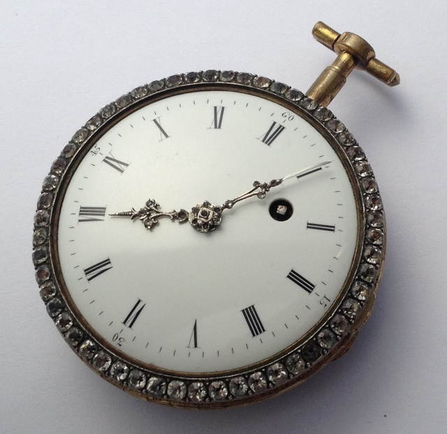 A beautiful enameled pocket watch Img_3314
