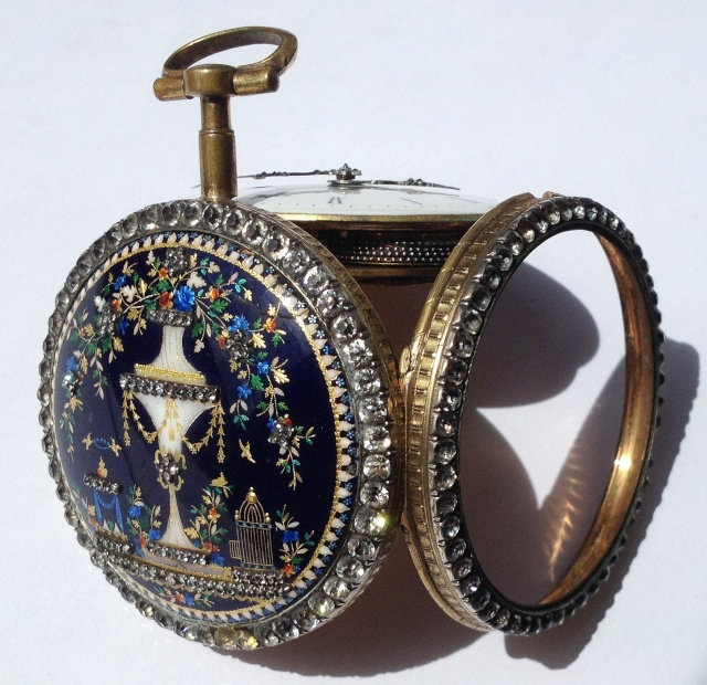 A beautiful enameled pocket watch Img_3315
