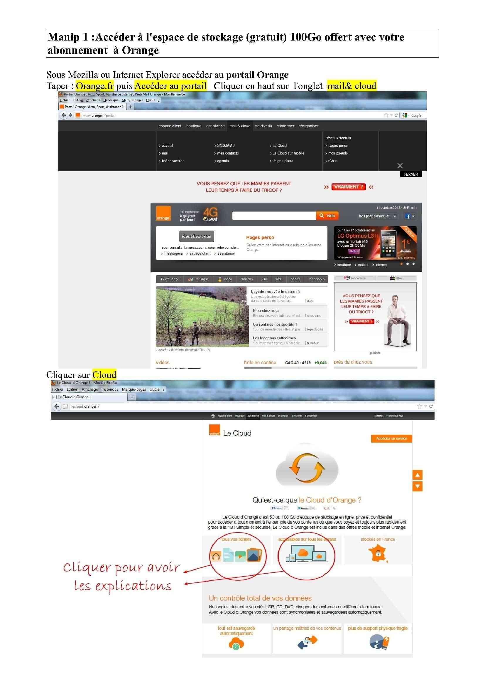 Espace de stockage et partage de gros fichiers ..avec Orange Espace10