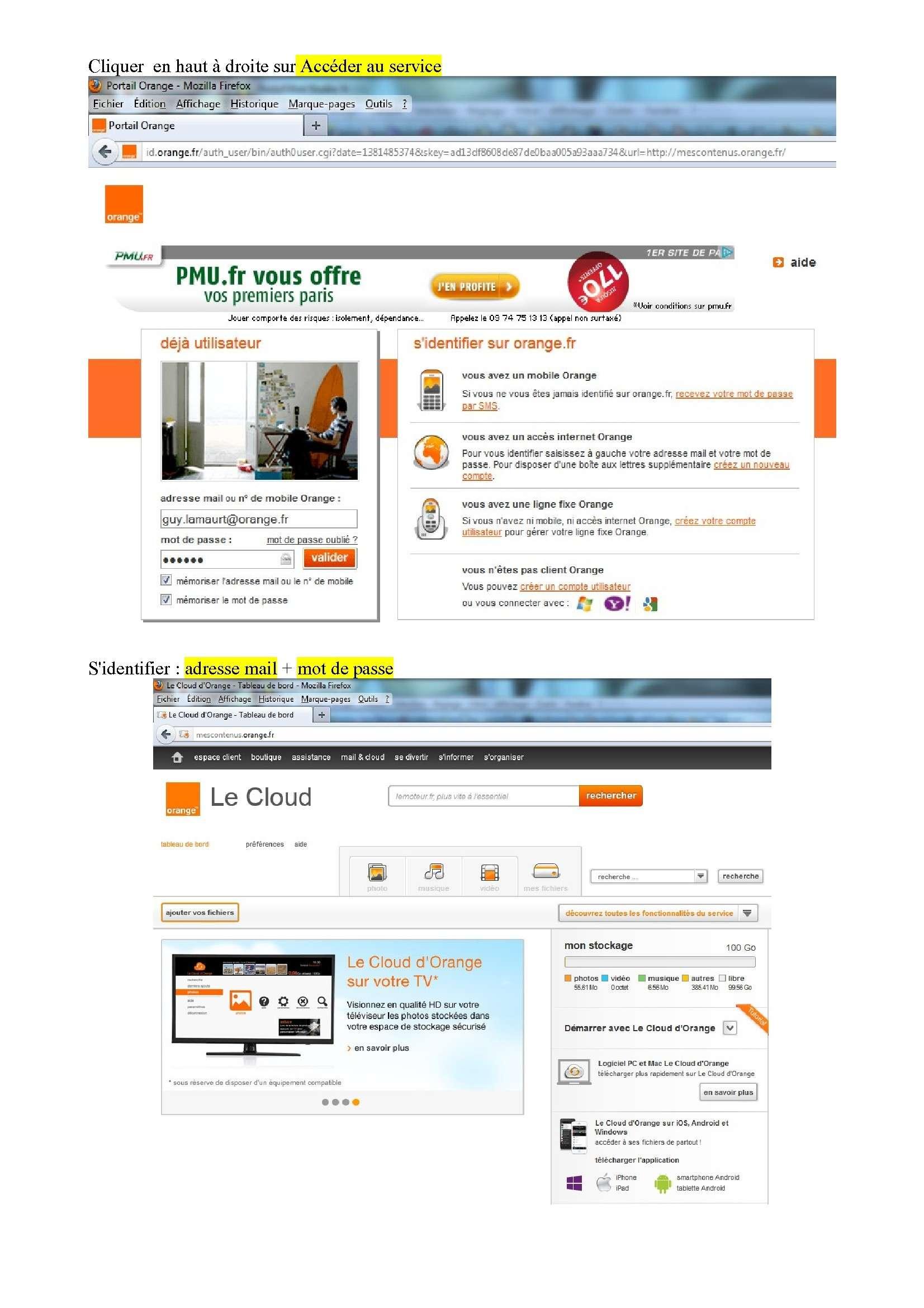 Espace de stockage et partage de gros fichiers ..avec Orange Espace11
