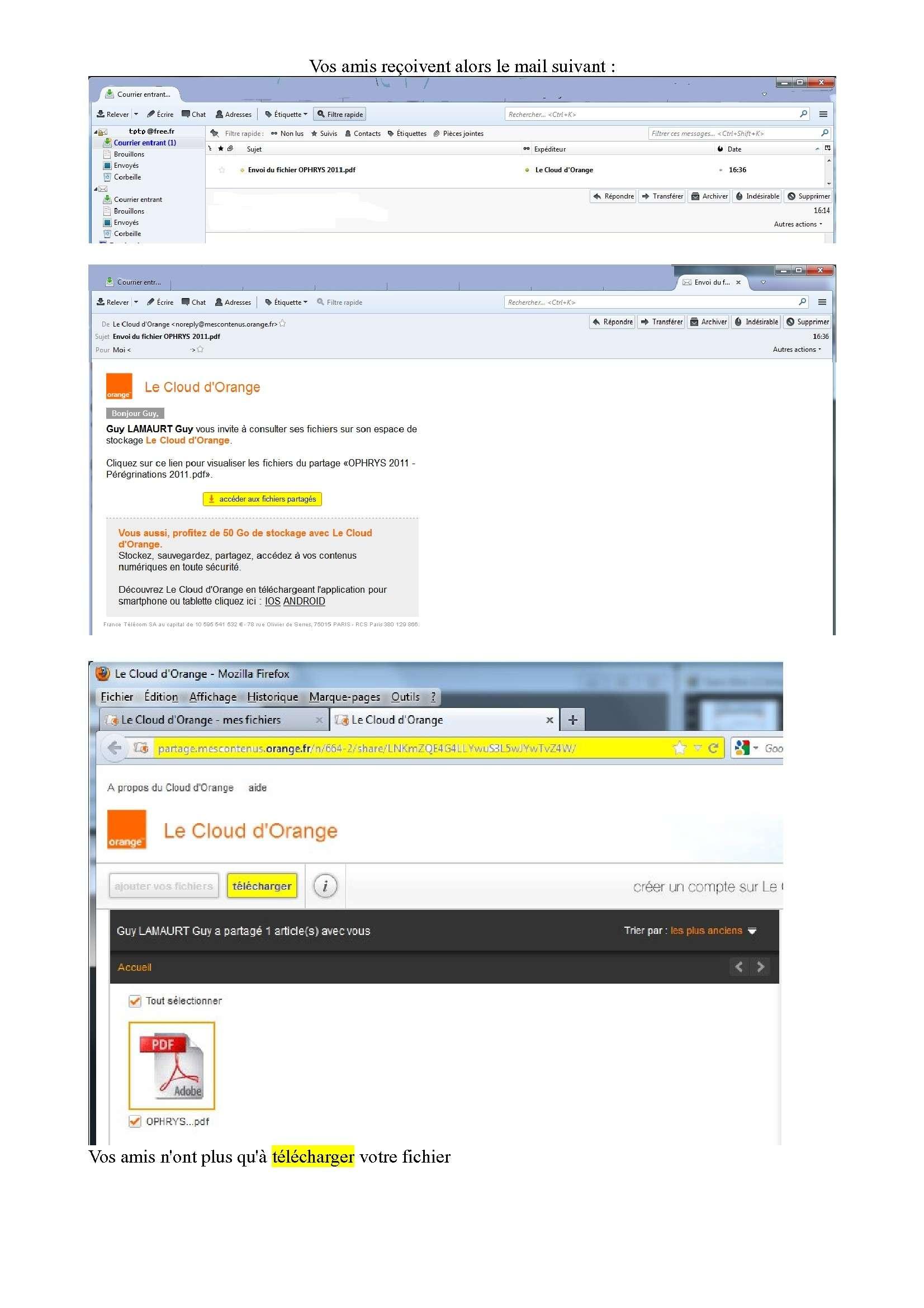 Espace de stockage et partage de gros fichiers ..avec Orange Espace18