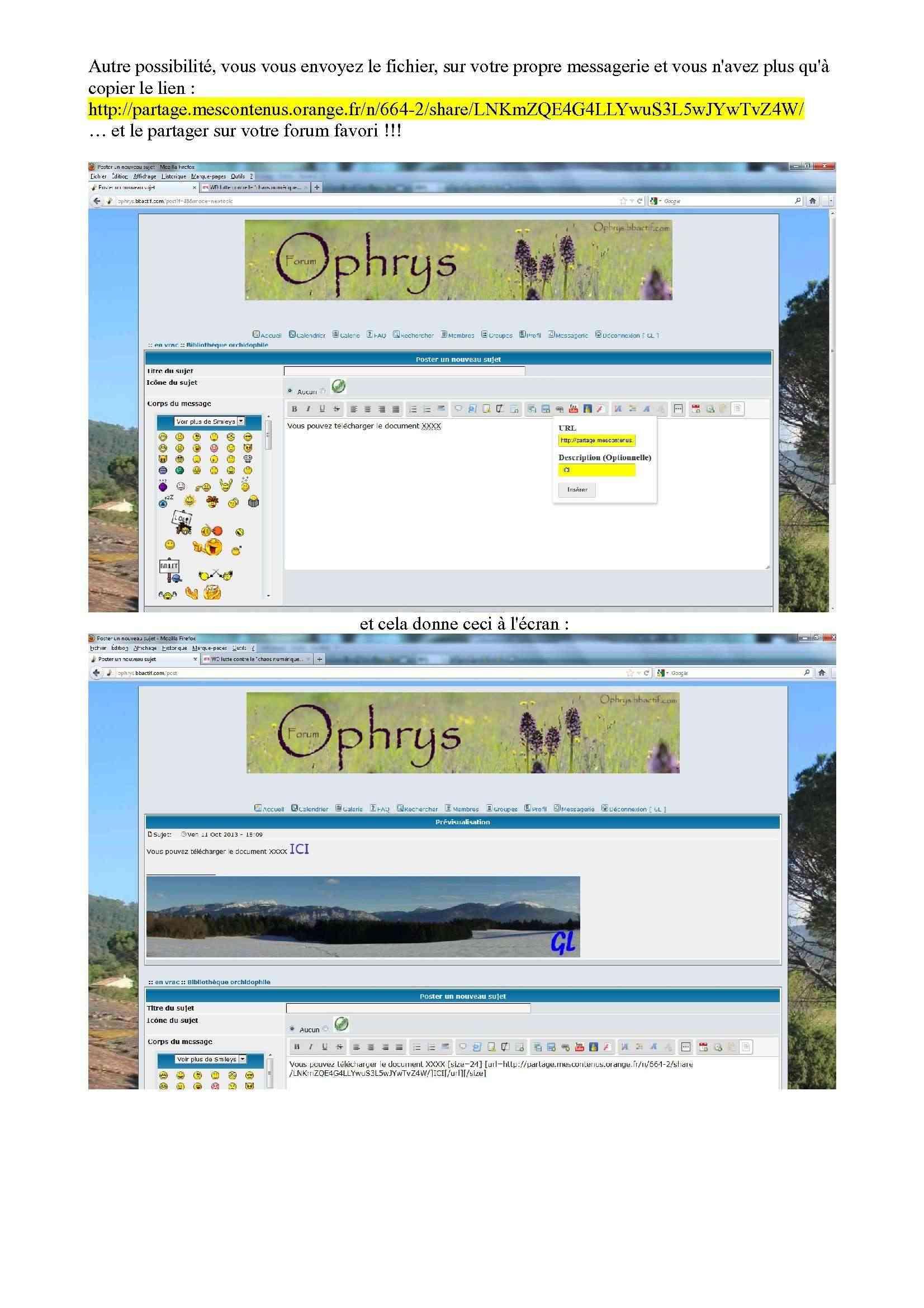 Espace de stockage et partage de gros fichiers ..avec Orange Espace19