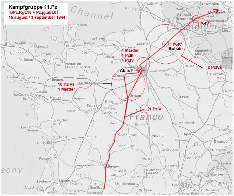 11eme panzer division  de passage dans le Loiret...vers le 15 août 1944 11pzma10
