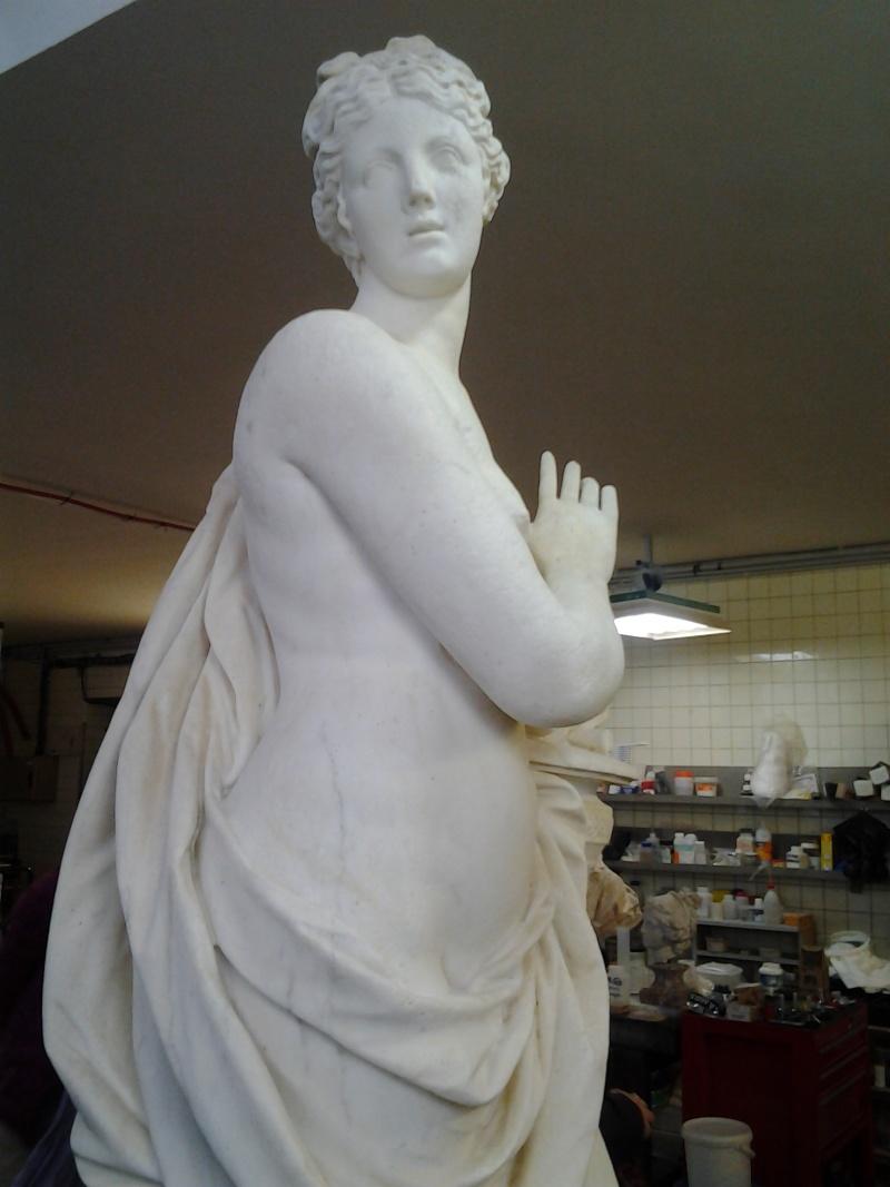 Visite à l'atelier de restauration des sculptures du C2RMF 93110