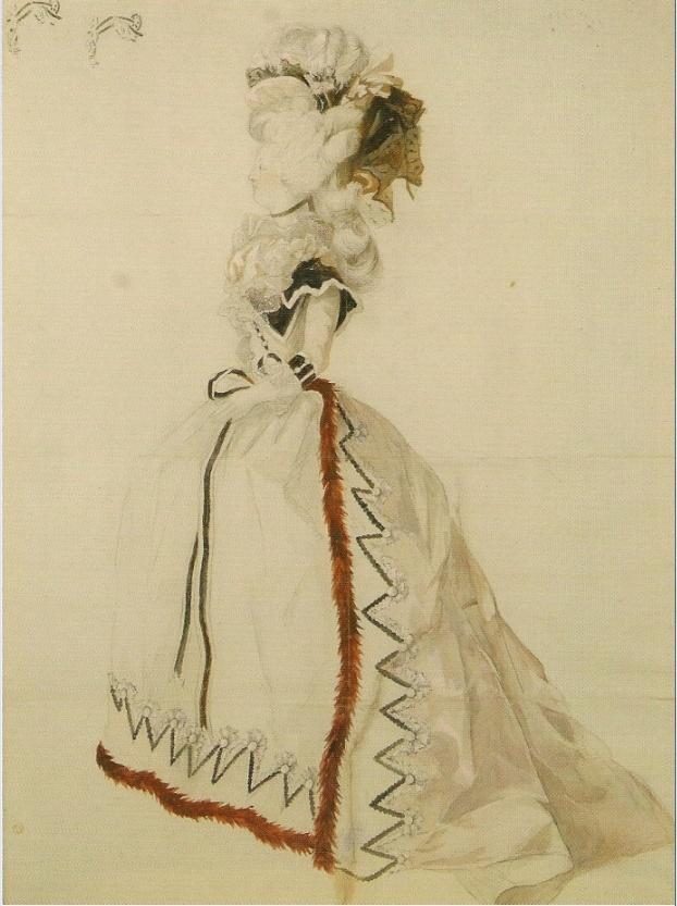 dessin représentant Marie-Antoinette en Redingote Captur57
