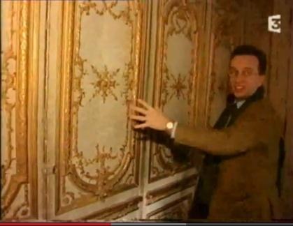 Trumeau cabinet doré du roi Captur72
