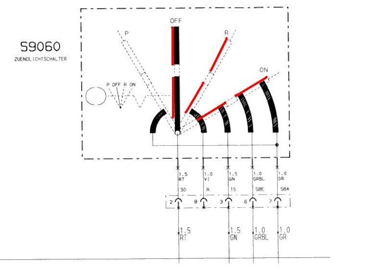 K100rs 16v Ignition switch swap. Tennin10