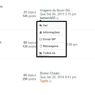 Modificar tema, atualizações e tema Developers para fóruns PunBB + JavaScript de bônus! 210