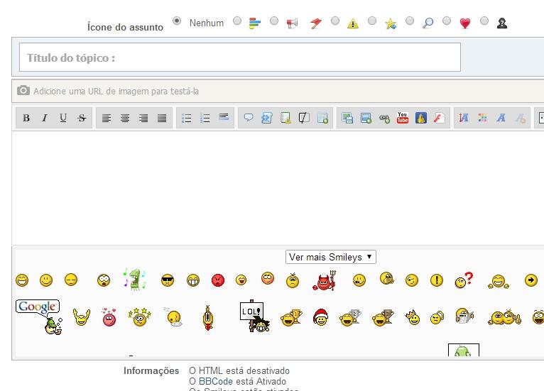 Modificar tema, atualizações e tema Developers para fóruns PunBB + JavaScript de bônus! 410