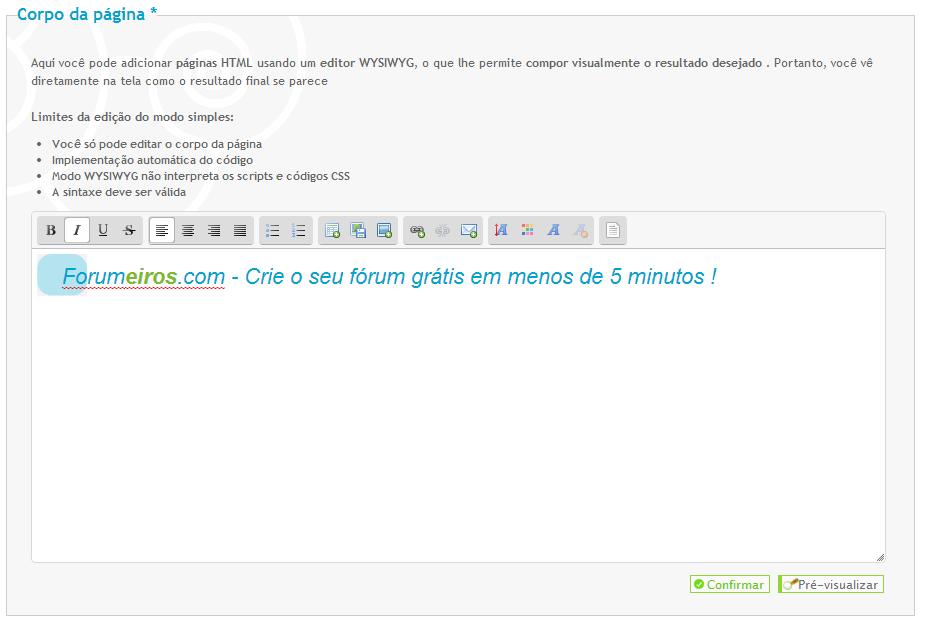 [FAQ] Criar uma página inicial HTML personalizada Editor10