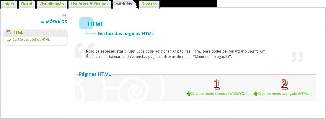 [FAQ] Criar uma página inicial HTML personalizada Module11