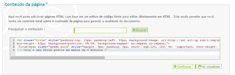 [FAQ] Criar uma página inicial HTML personalizada Sample10