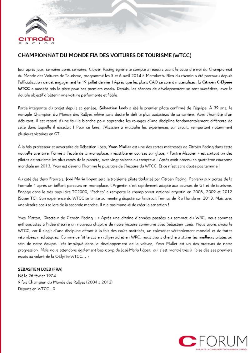 [COMMUNIQUE] Citroën Racing - Le programme complet pour 2014 211