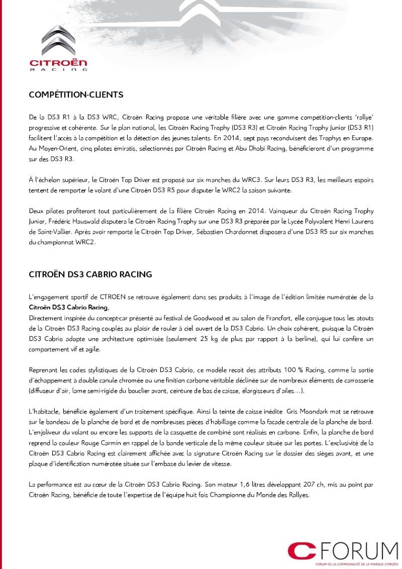 [COMMUNIQUE] Citroën Racing - Le programme complet pour 2014 510