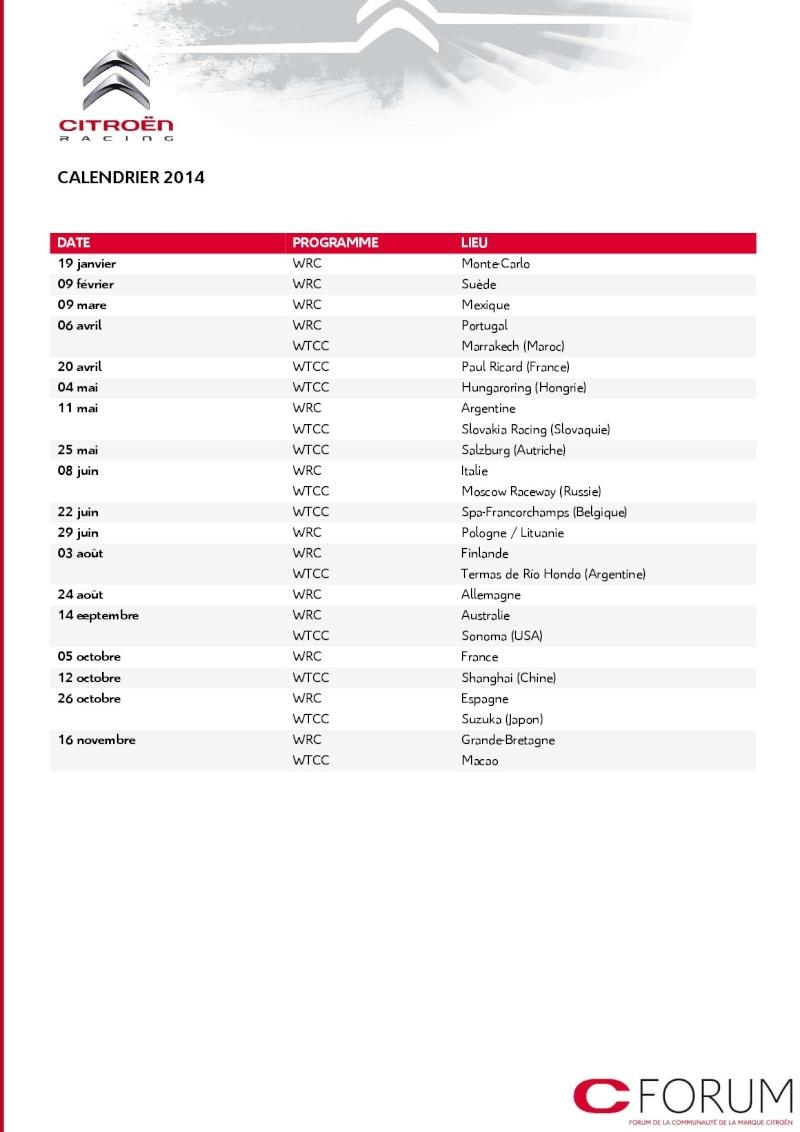 [COMMUNIQUE] Citroën Racing - Le programme complet pour 2014 610