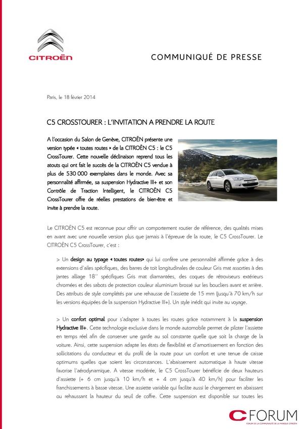 [DECLINAISON] Citroën C5 Tourer XTR - Page 3 Cp_cit10