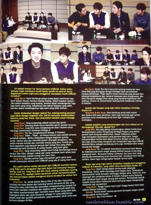 [INTERVIEW] CNBLUE pour My Idol Plus Vol.44 (Novembre 2013) 210