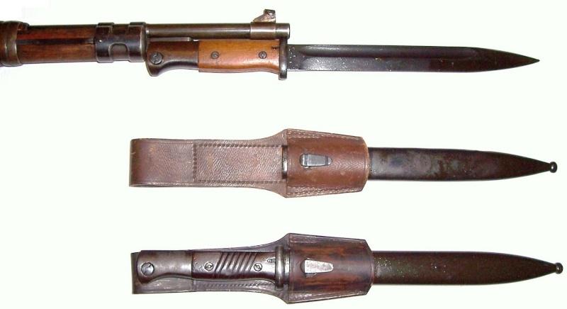 Quelques baïonnettes montées sur leurs armes K_98k_11