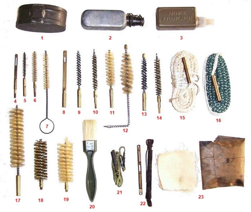 Matériel régimentaire d'entretien de l'armement, ou lot de garnison. Nacess10